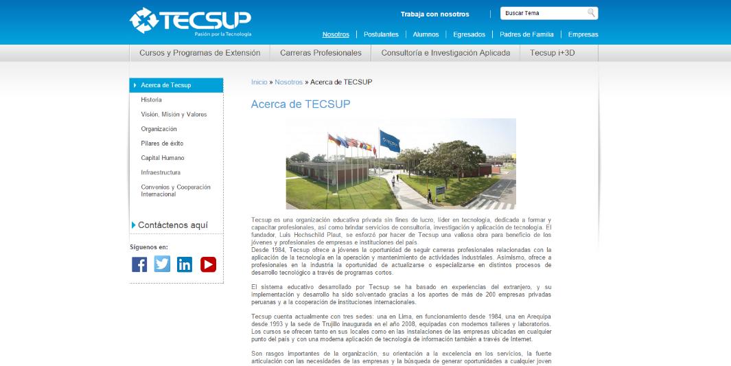 Tecsup y su nueva página web desarrollada por Staff Creativa ...