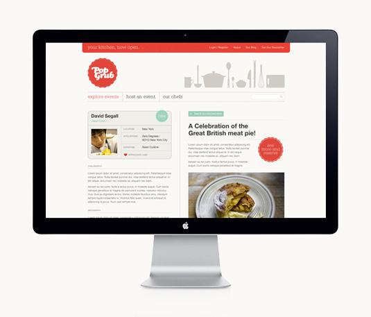 Hype & Slippers crearon el sitio y marca para la neoyorquina y reciente empresa Pop Grub.