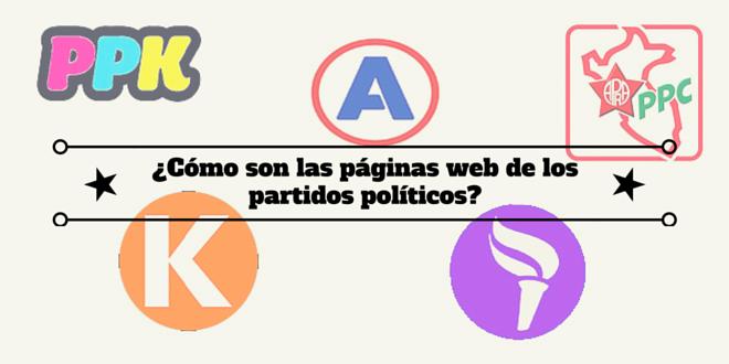 ¿Cómo son las páginas web de los partidos políticos?