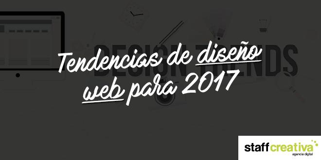 Tendencias de diseño web para 2017