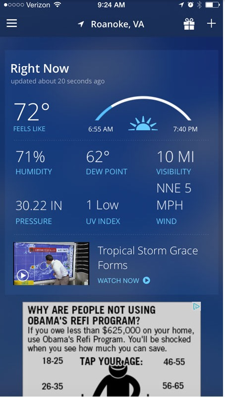Weather - Channel - iOS
