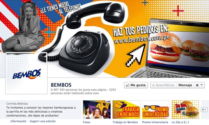 pagina de bembos en facebook