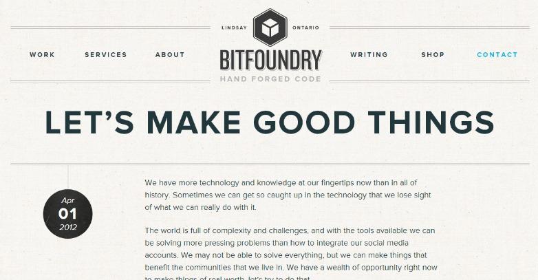 Bitfoundry blog