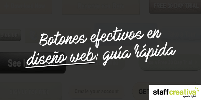 Botones efectivos en diseño web: guía rápida