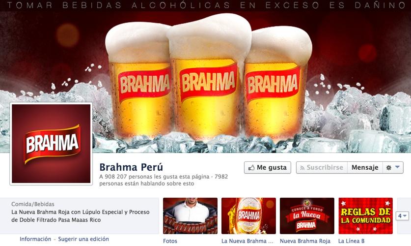 pagina de brahma peru en facebook