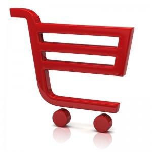 icono rojo carrito de compras