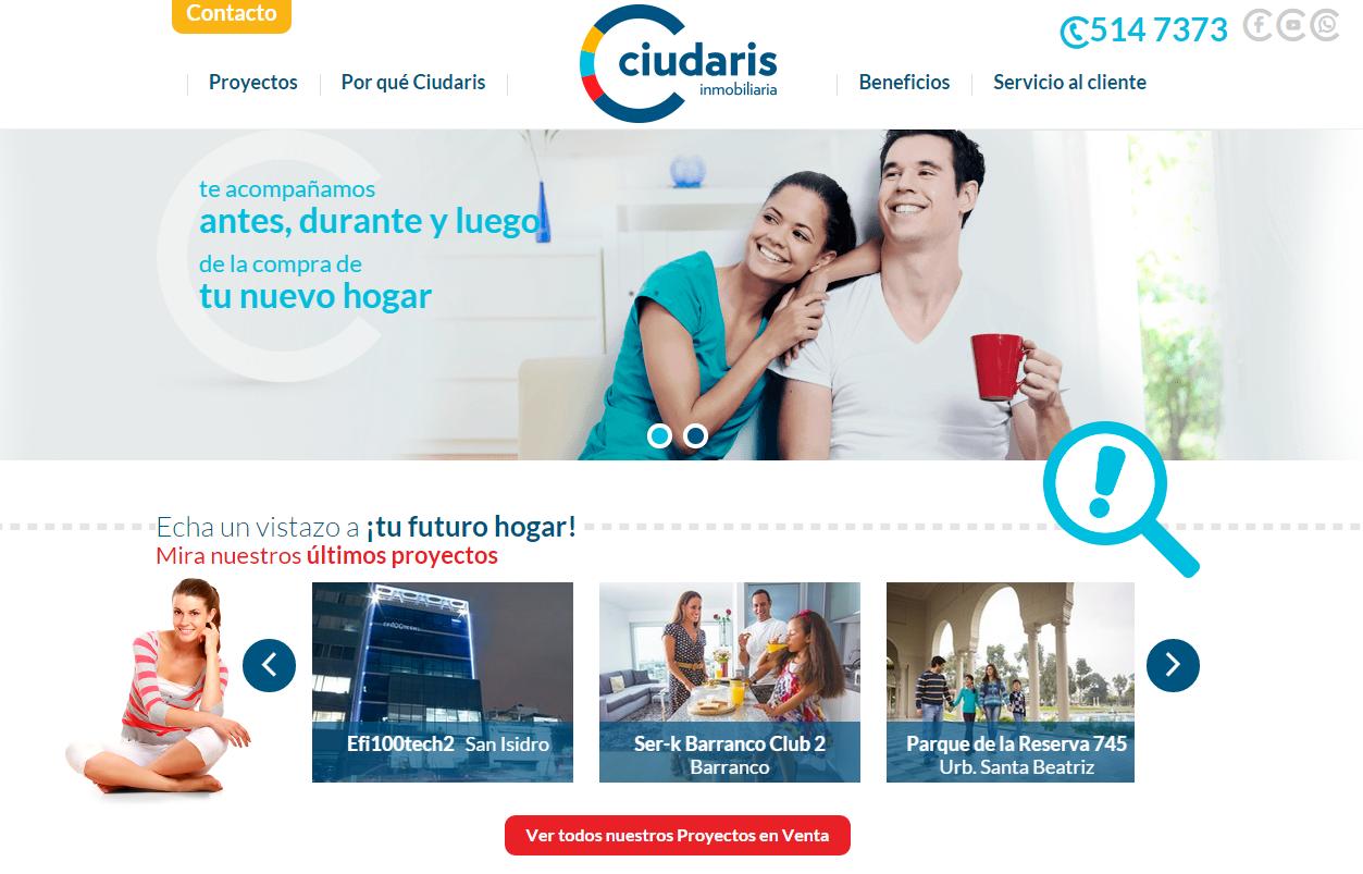 Ciudaris y su nueva pagina web