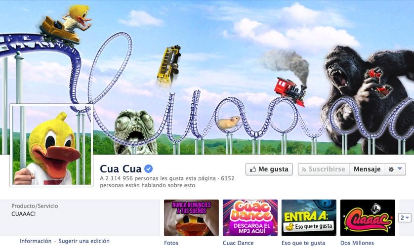 pagina de cuacua en facebook