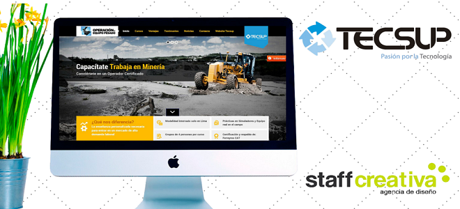 Tecsup y su nueva página web desarrollada por Staff Creativa