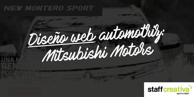 Diseño web automotriz: Mitsubishi Motors
