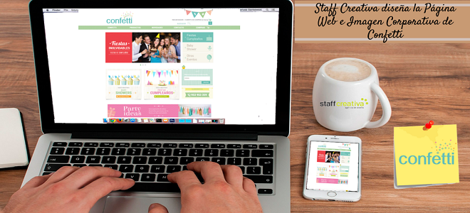 Staff Creativa desarrolla la página web e imagen corporativa de Confetti