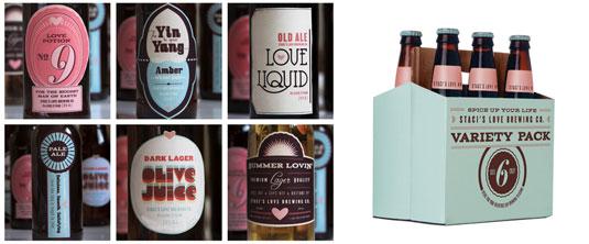 El diseñador Staci Paul creó las etiquetas para su pareja.