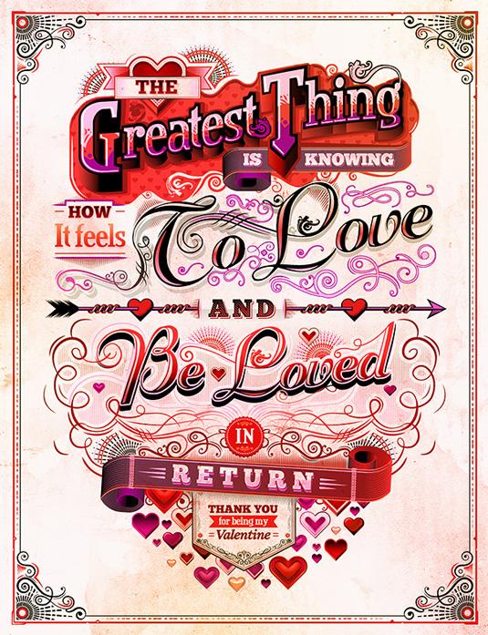 Este hermoso cartel de San Valentín se verá bien todo el año.