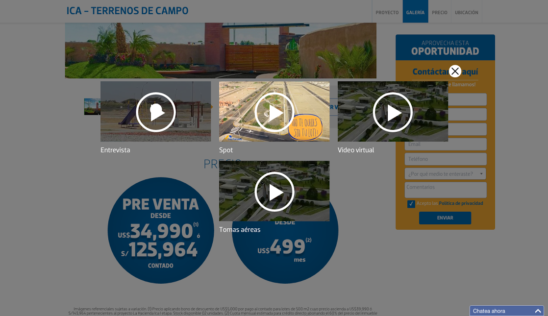 diseño-web-LP-vivienda-videos