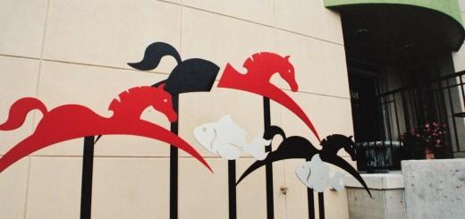 diseño grafico caballos peces