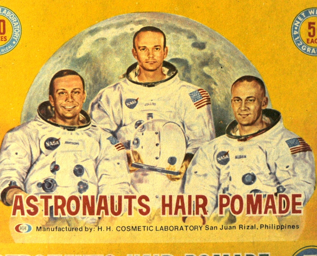 """Antiguo empaque de gel para el cabello """"Astronauta"""""""