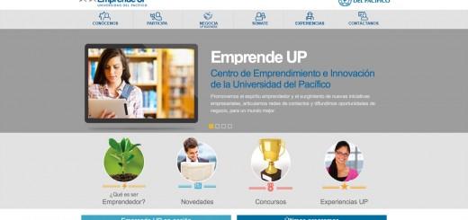 Website del Centro de Emprendimiento de la Universidad del Pacífico, desarrollado por Staff Creativa