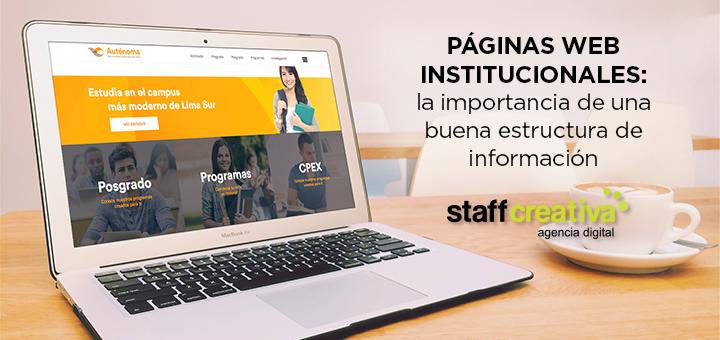 Páginas web institucionales: la importancia de una buena estructura de información