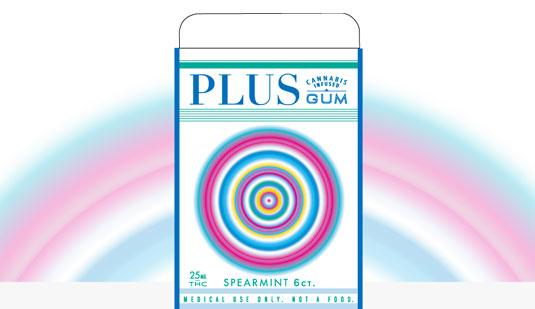 Plus Gum, con extracto de cannabis, pero discreto.