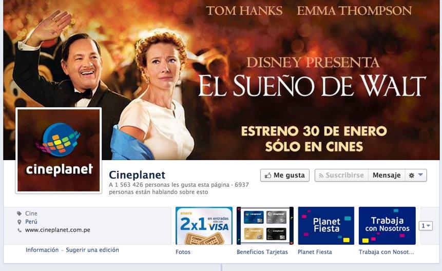 pagina en facebook de cineplanet