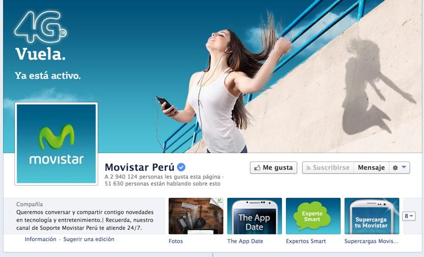 pagina en facebook de movistar peru