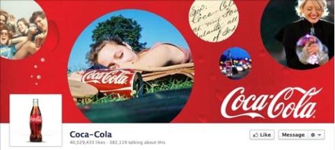 Coca-Cola incorpora imágenes del estilo de vida asociado a la marca que todos reconocen.