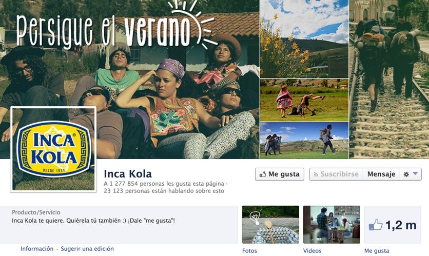 pagina de inca kola en facebook