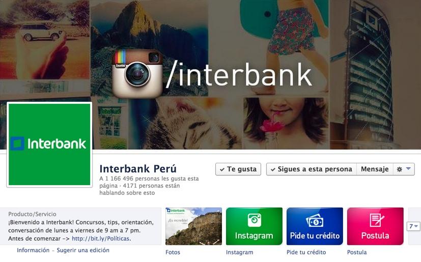 pagina de interbank en facebook