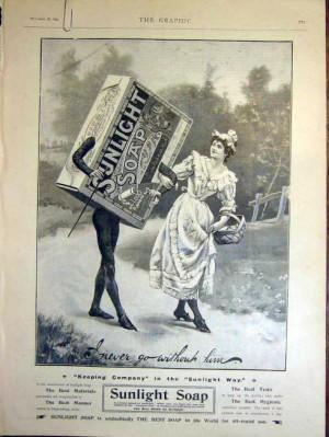 Publicidad de Jabón Sunlight - 1899