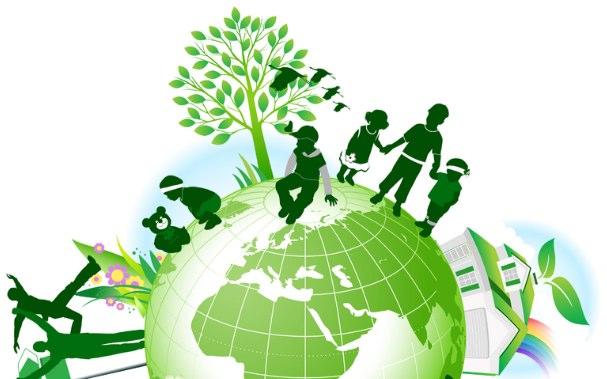 mundo ecologico verde tierra