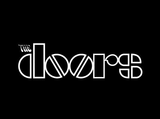 """La """"o"""" reflectiva"""" de The Doors sigue siendo tipográficamente icónica."""