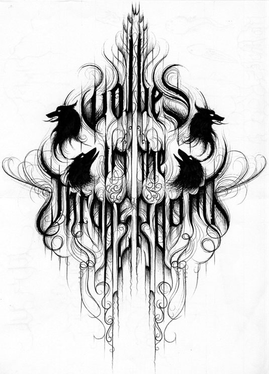 Solo uno de las creaciones del maestro de logos de black metal.