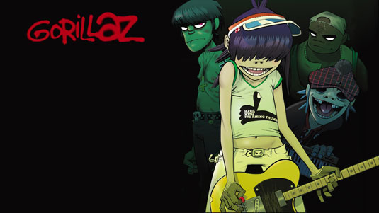 Gorillaz es una banda virtual, y la banda entera representa el proyecto.