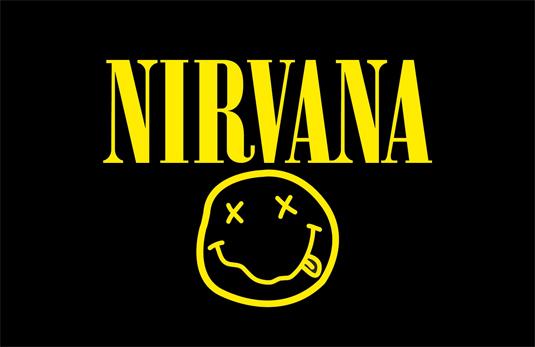 El diseño de logo de Nirvana es fácilmente reconocible en la industria de la música.