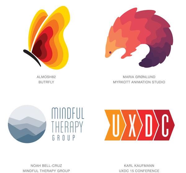 Logos creativos en degradado