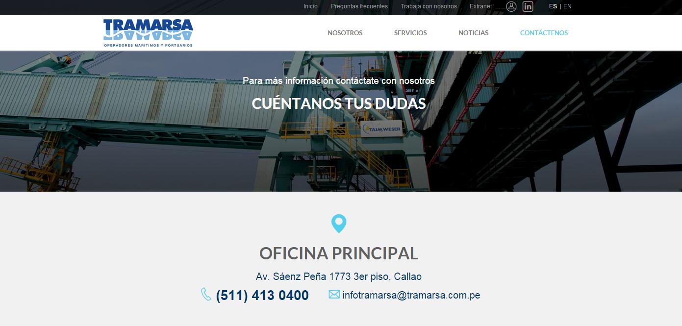 página-web-tramarsa-contactenos