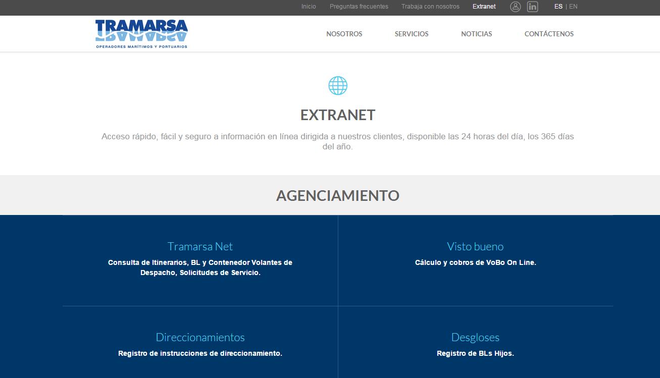 página-web-tramarsa-extranet