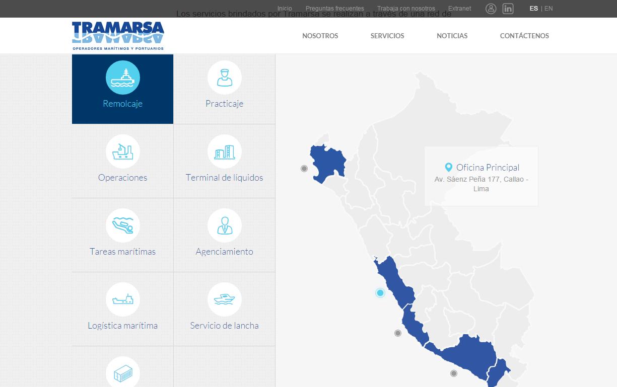 página-web-tramarsa-geografía