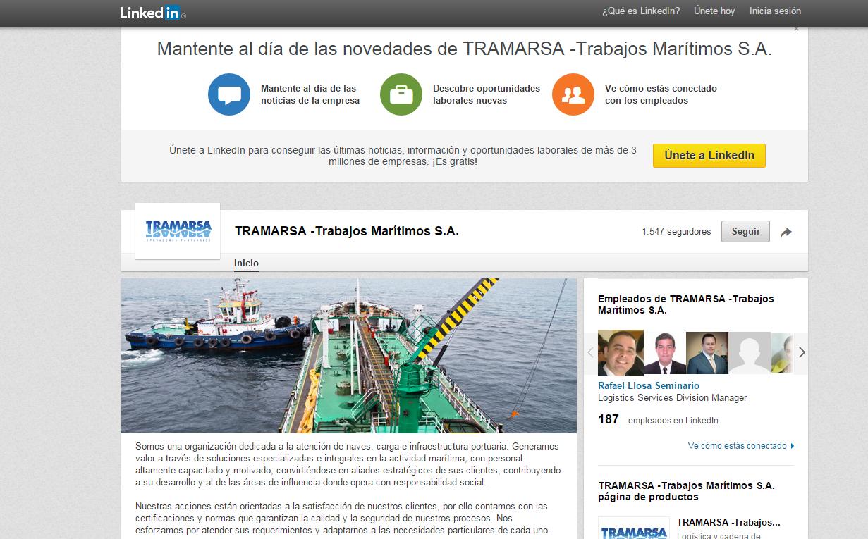 página-web-tramarsa-linkedin