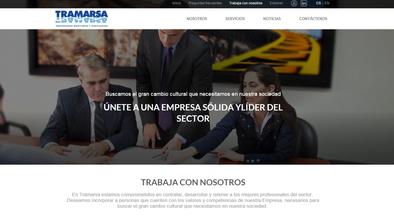 Operador mar timo tramarsa presenta su nueva p gina web - Trabaja con nosotros tenerife ...