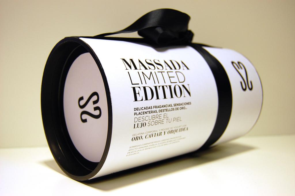 Packaging para una edición limitada de la marca de cosmética natural Massada