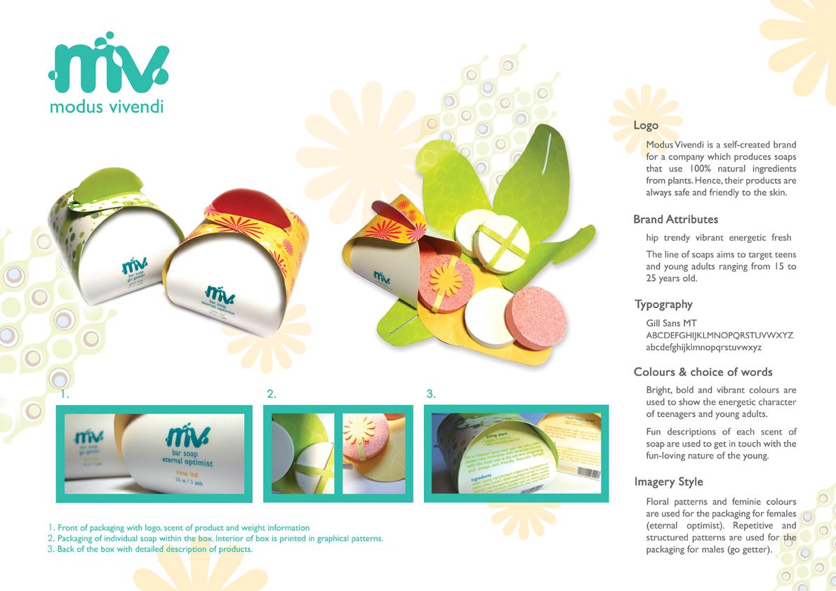 Diseño de packaging para una marca de barras de jabón