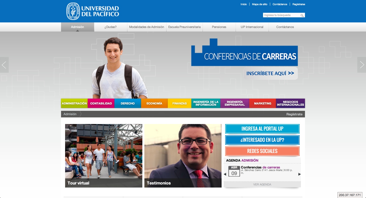 web de universidad del pacifico