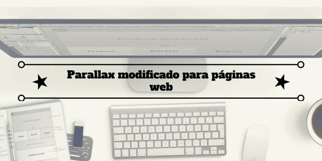 Parallax modificado para páginas web