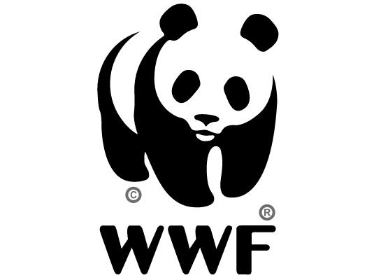 El diseño de logo del World Wildlife Fund usa el principio de proximidad de Gestalt para describir un oso panda, incluso cuando la forma no está totalmente cerrada