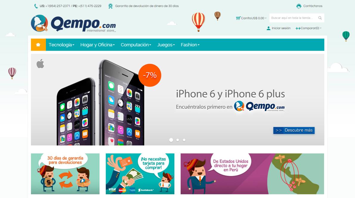 4a13f22f7613d Hace pocos años ingresó un nuevo y fuerte competidor en el rubro de compras  online  Qempo.com. Esta nueva plataforma te permite comprar en Estados  Unidos ...