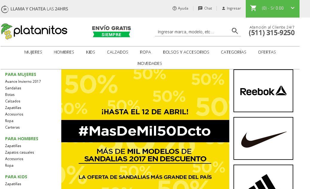 Tienda Online Platanitos ecommerce